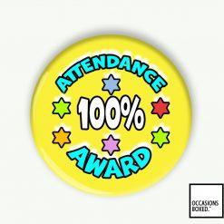 100% Attendance Award School Pin Badge