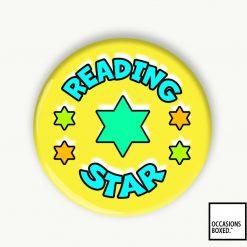 Reading Star School Reward Pin Badge