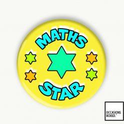 Maths Star School Award Pin Badge