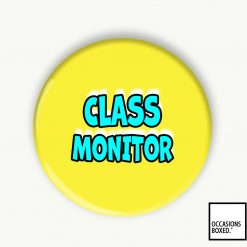 Class Monitor School Pin Badge
