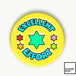 Excellent Effort School Reward Pin Badge