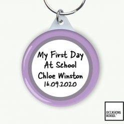 My First Day At School Keyring
