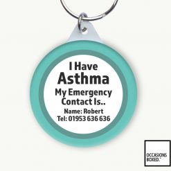 I Have Asthma My Emergency Contact Is Keyring