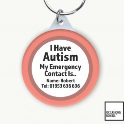 I Have Autism My Emergency Contact Is Keyring