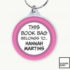 This Book Bag Belongs To School Keyring