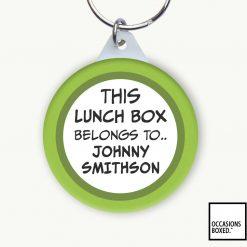 This Lunch Box Belongs To School Keyring