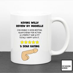 Funny Adult Willy Review 5 star Mug
