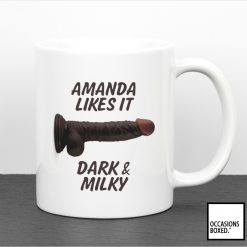 Black And Milky Personalised Adult Penis Mug