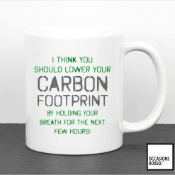 I Think You Should Lower Your Carbon Footprint Mug